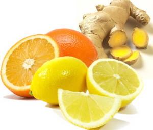 апельсин, лимон и имбирь